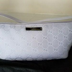 Gucci Pochette Lilac Purple Canvas GG Small Bag